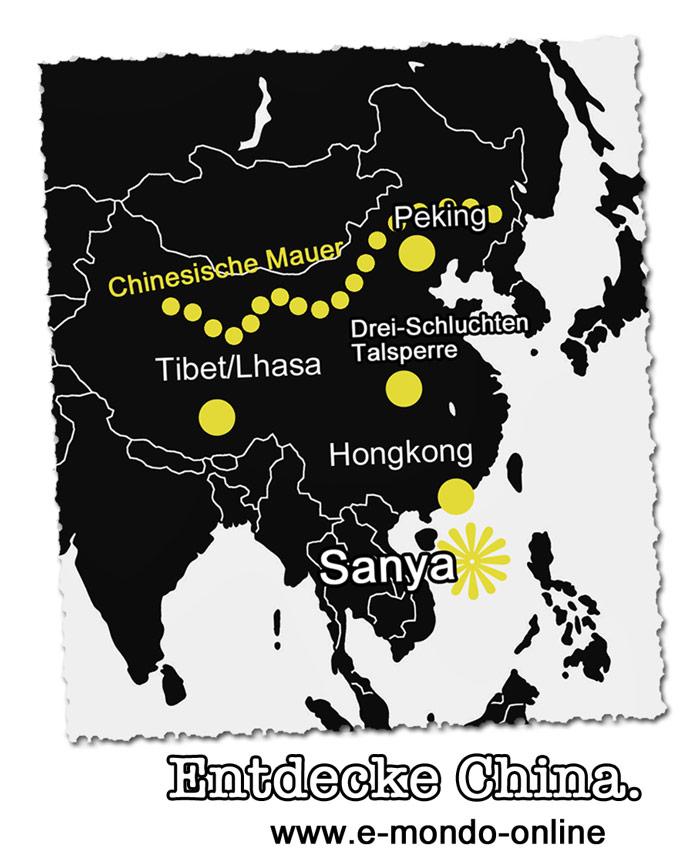 Hainan-Sanya-Karte