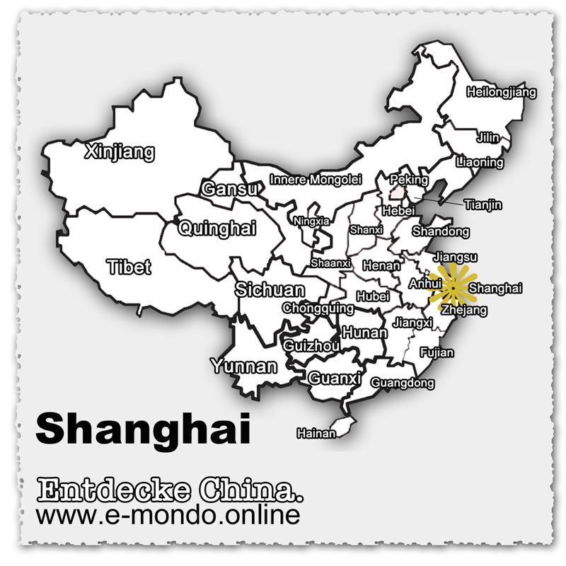 China-Shanghai-Karte