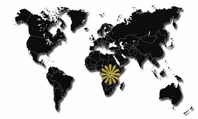 Afrika-Reiseziele-Karte
