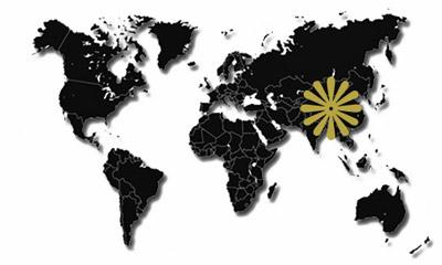 Asien-Reiseziele-Karte